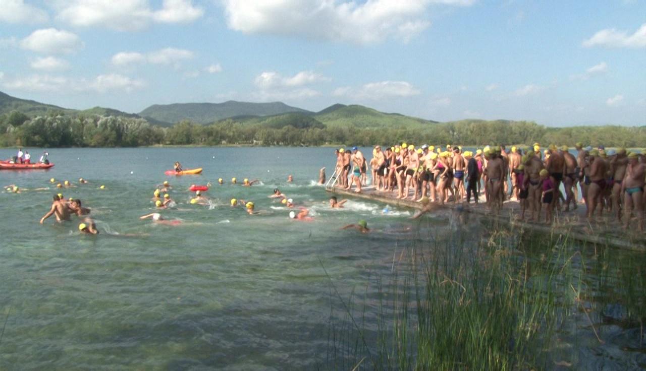 """Uns 200 nedadors participen a """"Braçades per la Llibertat"""""""