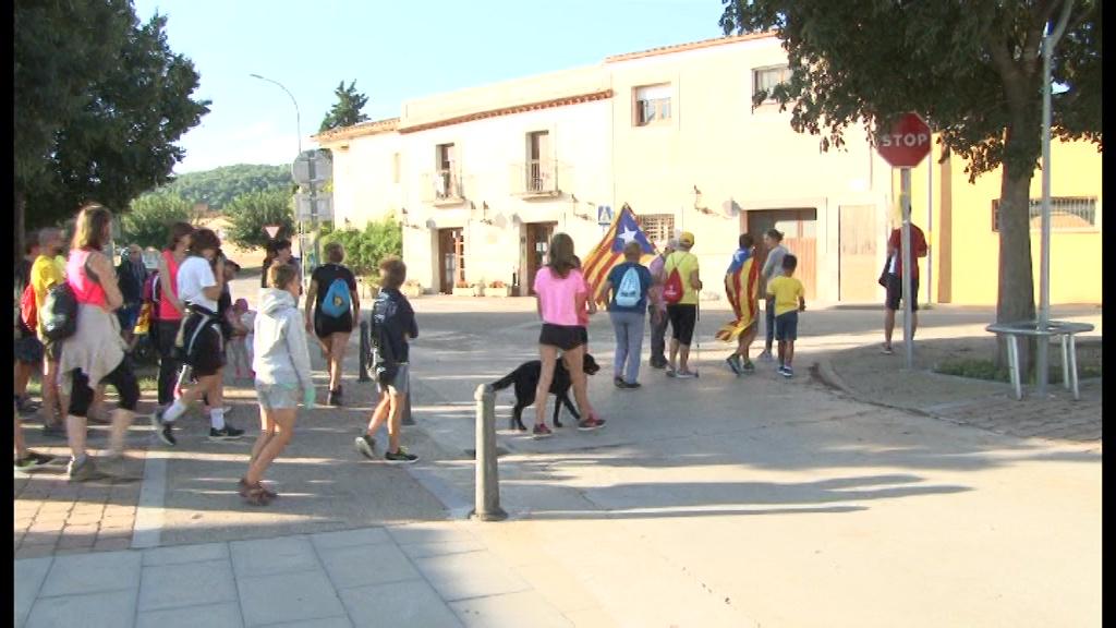 El Pla de l'Estany es mobilitza per la diada de l'11 de Setembre