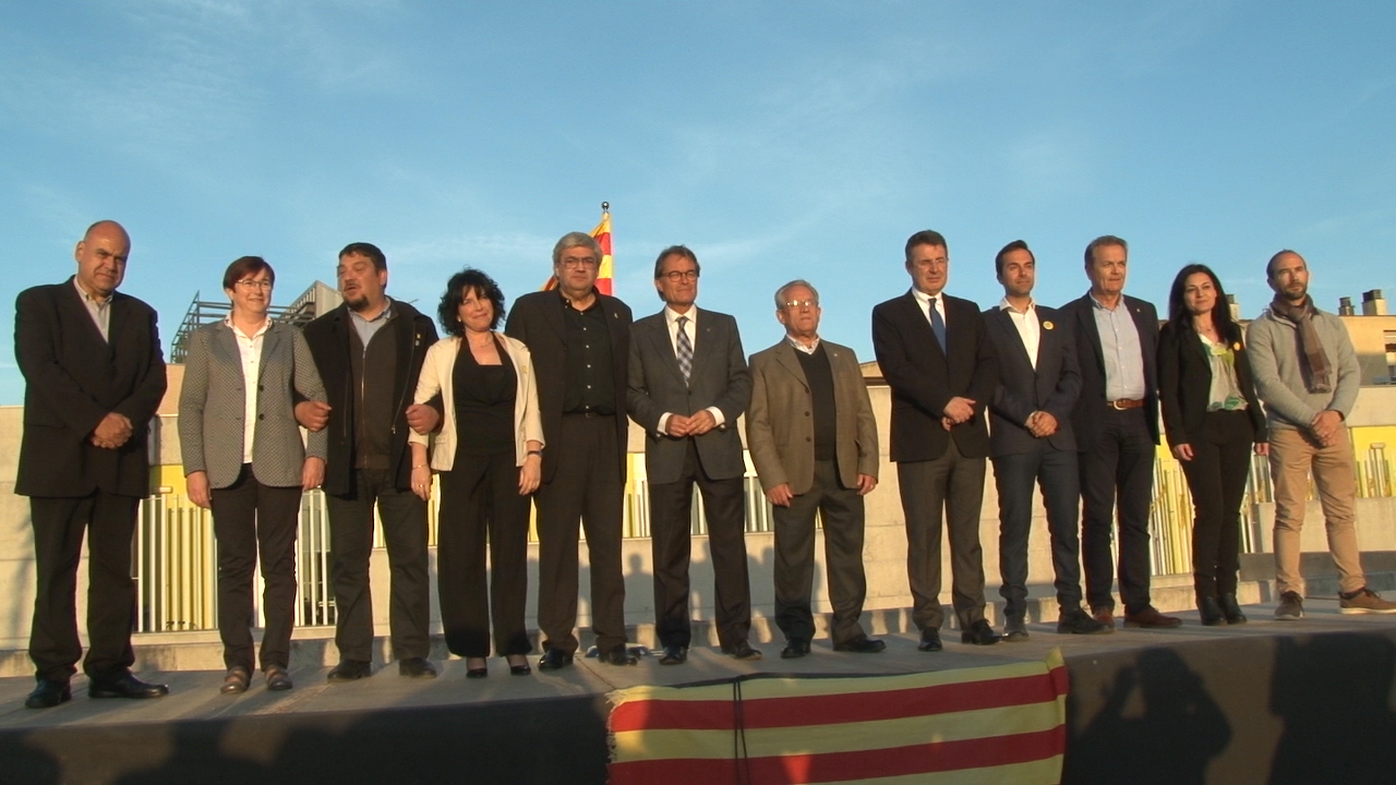 Junts per Catalunya presenta els 11 candidats del Pla de l'Estany, a Porqueres